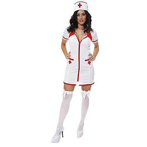 Fancy Me Femme Sexy infirmière Docteur Occupation Halloween déguisement Costume Tenue UK 8-12