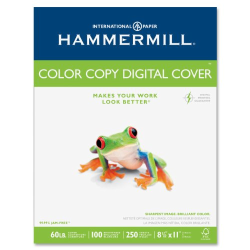 Hammermill Color Copy Digital Cover Stock, 60 lbs., 8-1/2 x 11, White, 250 Sheets