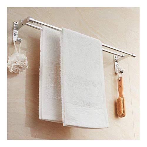 Wtbew-u Toallero para baño, toallero, doble barra de baño, soporte de pared, fácil de instalar, 30 ~ 80 cm (tamaño: 700 mm) (color: 300 mm)