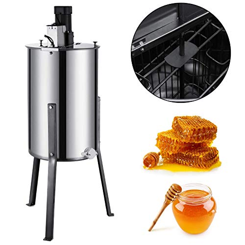 Happybuy Honeycomb Drum Spinner Beekeeping Equipment with Strainer, 2 Frame, Electric Honey Extractor