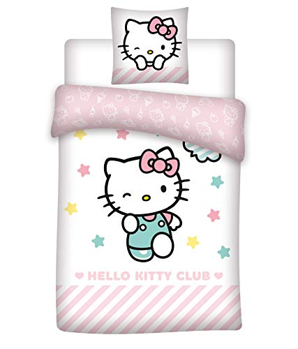 kinderdekbedovertrekken - Dekbedovertrek Hello Kitty, 140x200cm (1 TOYS)