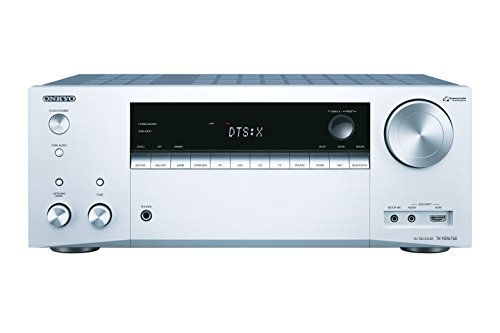 Onkyo TX-NR676E(S) 7.2 Kanal AV Receiver (165 W/Kanal, Multiroom, Dolby Atmos/DTS:X, WLAN, Bluetooth, Streaming, Musik Apps, Spotify, Tidal, Deezer, Radio, Front HDMI/Audio in), Silber
