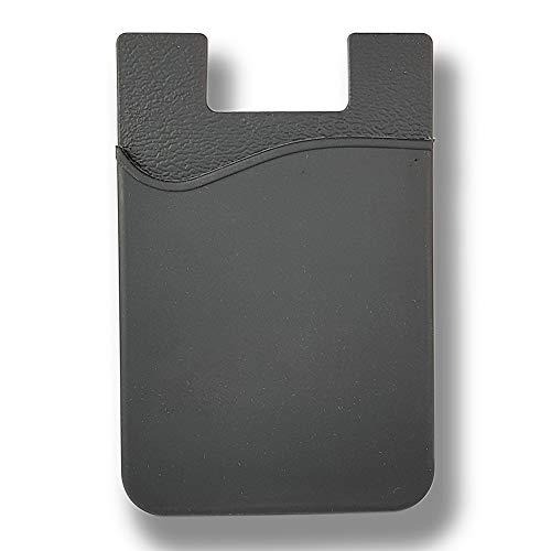 KSTORE365 Tarjetero Porta Tarjetas Adhesivo para Móviles De Silicona (Negro)