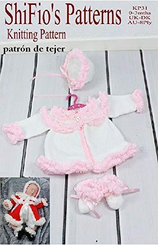 Patrón Para Dos Agujas Kp31 Chaqueta Matinée Sombrero Y Botitas Patucos Para Bebé Spanish Edition Ebook Shifio S Patterns Kindle Store