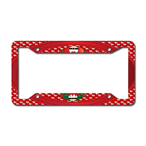 Library design Your License Plate Frame Auto Truck Car Front Tag Personalized Metal License Plate Frame 6'x12'. Owl Christmas Fun
