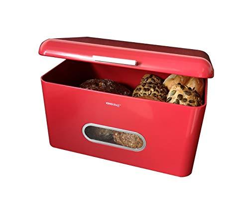 AVEELO XXL Brotkasten Retro Aufbewahrungsbox aus Metall 34x24x21 cm Brotkästen Aufbewahrungsbox für Brot Grosser Vintage Brotkasten Bread Box Retro Brotbox