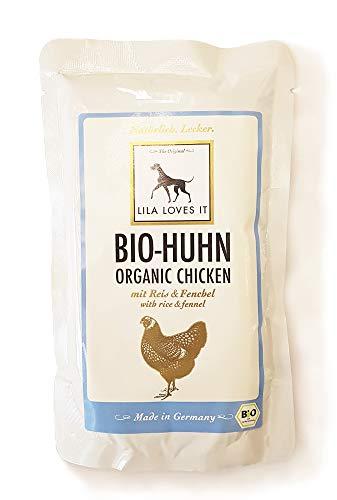 LILA LOVES IT Bio-Huhn MIT Reis & FENCHEL Hundefutter Inhalt 150g
