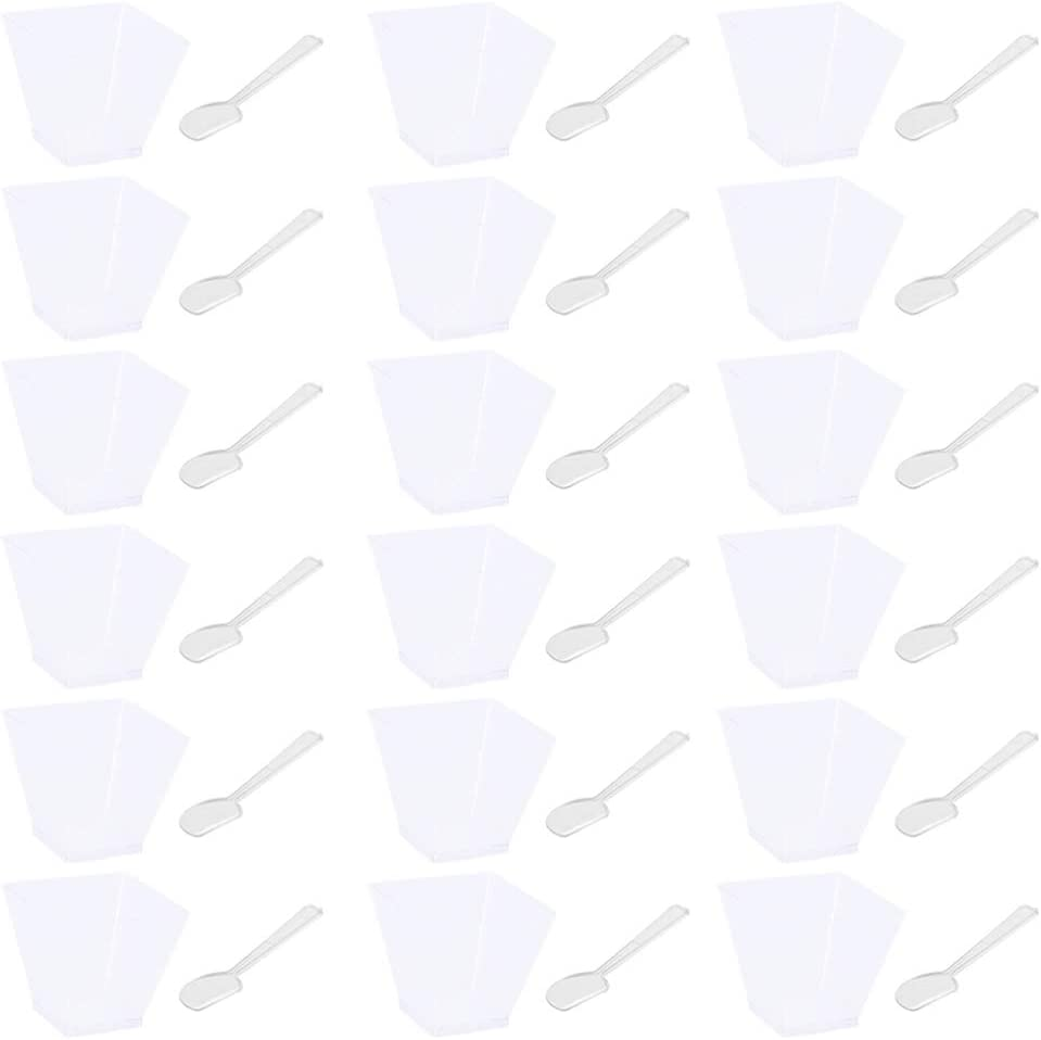 Outlet ☆ Surprise price Free Shipping Hemoton 25pcs Cups with Spoons Portion Clear C Mousse