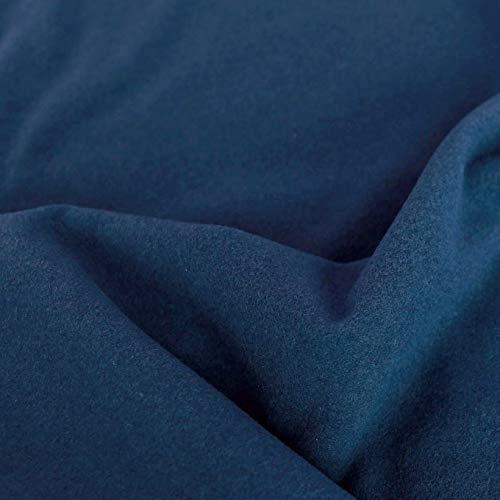 50cm TOLKO Kaschmir Winter Wollstoff/Mantelstoff | Flauschig weich warm | 1,5mm dick | Schweres Wolltuch für Mantel Jacke Sakko | Meterware zum Nähen Dekorieren 150cm breit (Blau)