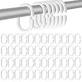 Anillo de cortina de ducha-anillo de cortina de ducha tipo C-blanco 48...