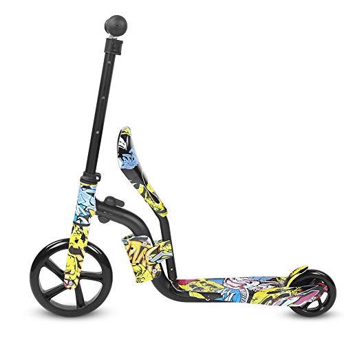 Demeras Scooter Colorido Scooter de Equilibrio de Doble Uso Scooter de Equilibrio de Doble Uso para niños y niñas de 3 a 12 años