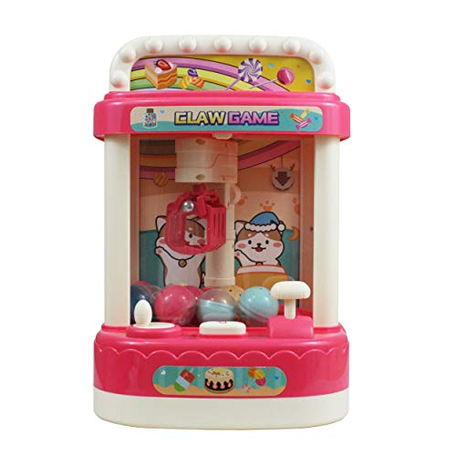 MISTIC COOL Mini Claw Machine for Kids, The Claw Machine Toy Grabber and Dispenser with Lights and Music - Fun for The Whole Family