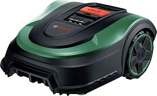 Bosch Robot cortacésped Indego S 500, con batería sustituible de 18V, Base de Carga incluida, Ancho de Corte de 19cm, para áreas de césped de hasta 500m² y en Caja de cartón