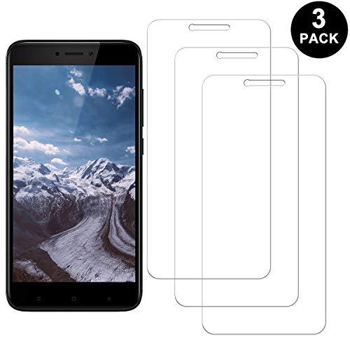 RIIMUHIR Xiaomi Redmi Note 4X Protector Pantalla, Cristal Templado Anti-arañazos, Anti-Huella Digital, Sin Burbujas, 3 Unidades