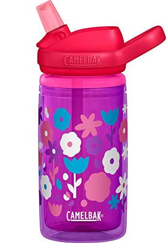 CamelBak Eddy+ Kids Insulated BPA-Free Bottle, 14oz, Flower Power (2283601040)