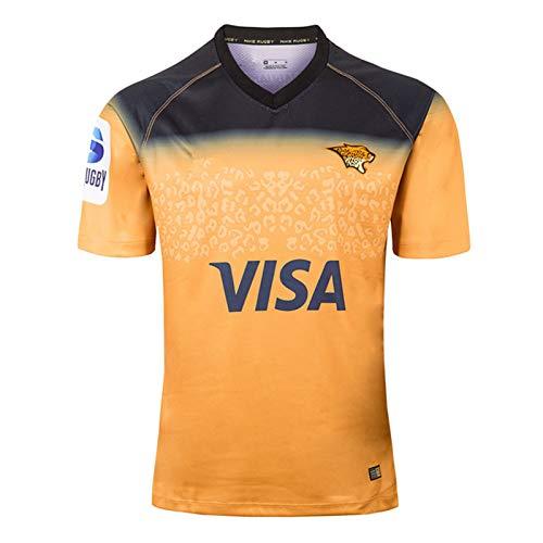 2019 Jaguar Heim- und Auswärts Rugby Jersey, Sommersport Breathable Casual T-Shirt Fußball-Hemd-Polo-Hemd, Beste Geburtstags-Geschenk Away -L