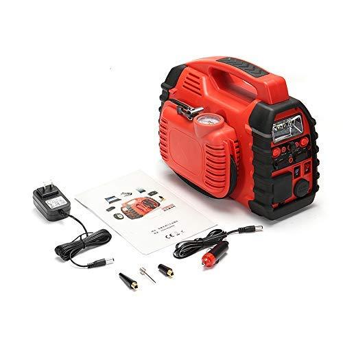 BQT 12V Aria Compressore Caricabatteria Da Auto Batteria Starter Caricabatteria Da Auto Portatile Con Luci LED (Rosso)