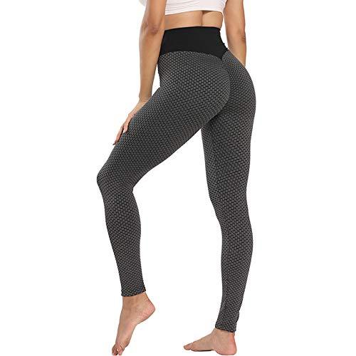 UFLF Leggings Push Up Mujer Mallas Deporte de Alta Cintura Leggings Sport Pantalones Anticeluliticos Elástico para Yoga Fitness Running Ejercicios (Negro, S)