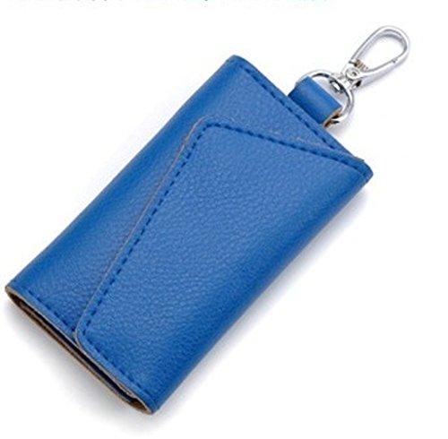 Portachiavi borsellino da Donna Uomo in Pelle (Blu)