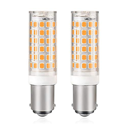 MENGS 2-er Pack B15D 10W = 80W LED Licht Keramik + PC Abdeckung Warmweiß 850LM 76X2835 SMD AC 220-240V