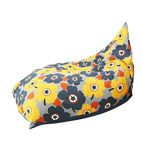 SD Confortable Bean Bag Chaise/Grand Pouf Poire/Chaise De Sol/avec Mousse Ultra Confortable/avec Fermeture Éclair/pour Enfants Et Adultes(120 * 75 * 75cm)
