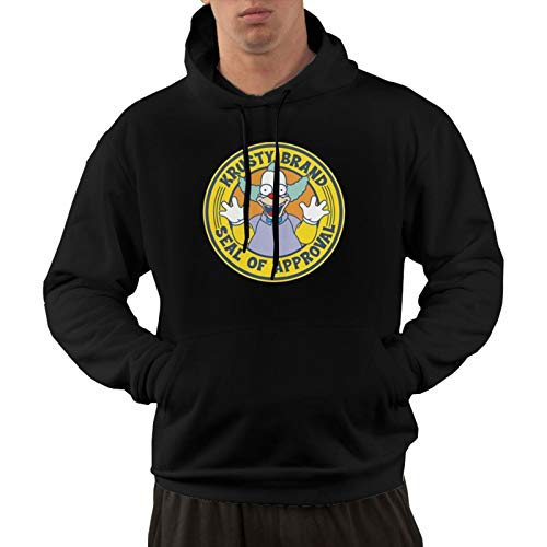 Men's Krusty The Clown Hoodies, Sweatshirts, Long-Sleeved Hoodies, Casual and Loose, are Fashion Killers Xx-Large Black