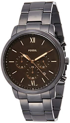 Fossil Herren Chronograph Quarz Uhr mit Edelstahl Armband FS5525