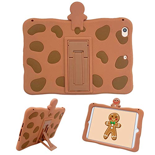 SGVAHY Creative iPad Case for iPad Pro 2016,Soft Silicone Cute 3D Cartoon Gingerbread Man Design iPad Case with Self Stand Shockproof Protective Cover Case (Gingerbread Man, iPad Pro 2016(9.7 inch))