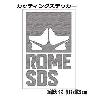 【③】ROME ローム スノーボード カッティング ステッカー (銀, 20)
