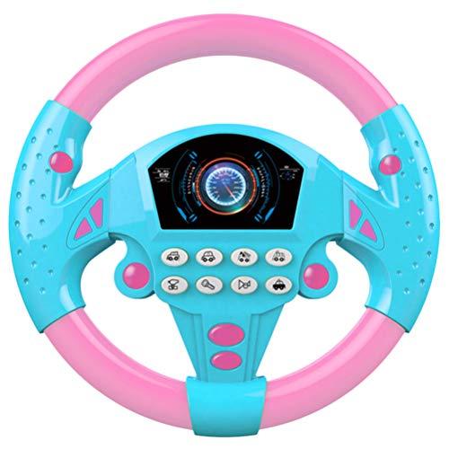 Kinderlenkrad Spielzeug Electronic Steering Wheel Geräusche Sound Lenkrad Kinder Fahrsimulator Auto Simulation Spielzeug für Kinder Jungen Mädchen