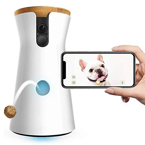 HWZQHJY Interaktive Haustier-Kamera mit Strom versorgt Full HD WiFi Haustier-Kamera mit 2-Wege-Audio, Treat Tossing, Nachtsicht und Barking Alerts, entworfen for Hunde