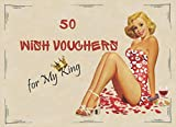 50 Wish Vouchers for My King: Full-Color Naughty Coupon Book for Him, Husband, Boyfriend. Funny Gift for Valentine's Day, Birthday, Anniversary. (Love Coupon Books)