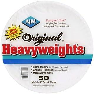 AJM Original Heavyweights Paper Plates - 4 Packs (50 plates ea)