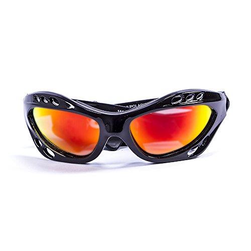 Ocean Sunglasses Cumbuco - Gafas de Sol polarizadas - Montura : Negro Brillante - Lentes: Amarillo Espejo (15001.1)