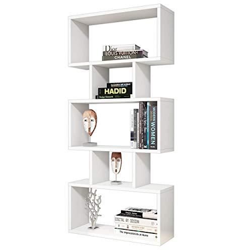 Homemania Libreria Iona, Legno, Bianco, 60x20x130 cm