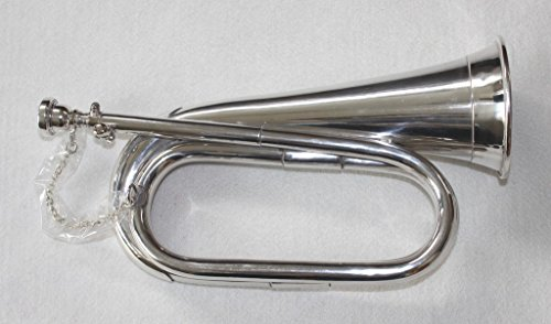 OSWAL Brand New Tuneable Army,Military Bugle Nickel Plated With Free Hard Case+M/P