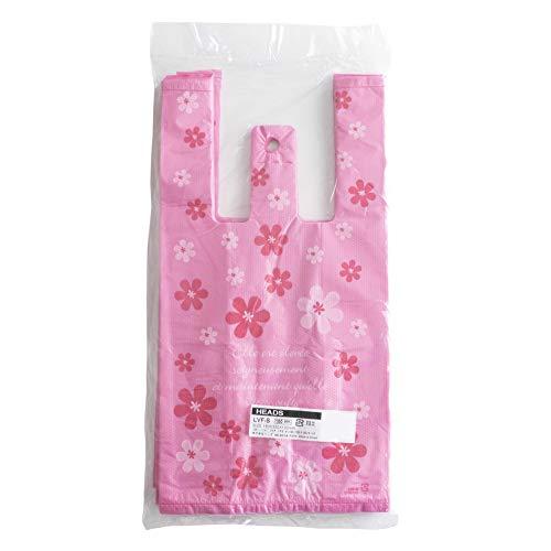 レジ袋 かわいい 手提げ袋 ビニール袋 店舗用品 業務用 (A.花柄 S 100枚)