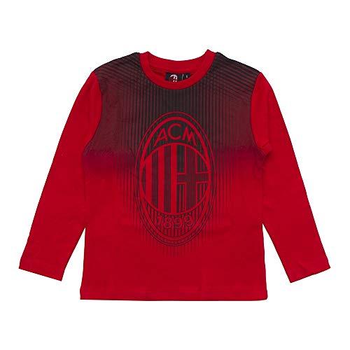 t-Shirt Milan Manica Lunga M041 per Bambino (tg, XL 10 Anni)