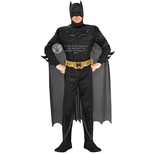 Homme Deluxe Rubis Batman Dark Knight Fancy Dress Costume pour adulte Halloween