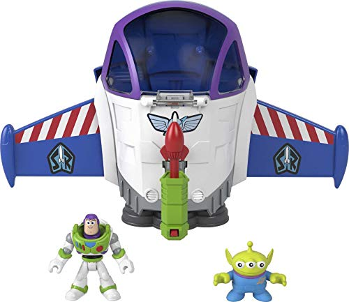 Fisher Price Imaginext Disney Pixar Toy Story Buzz Lightyear Space Mission Playset with 2 Figures for Preschool Kids Ages 3 to 8 Years [Amazon Exclusive]