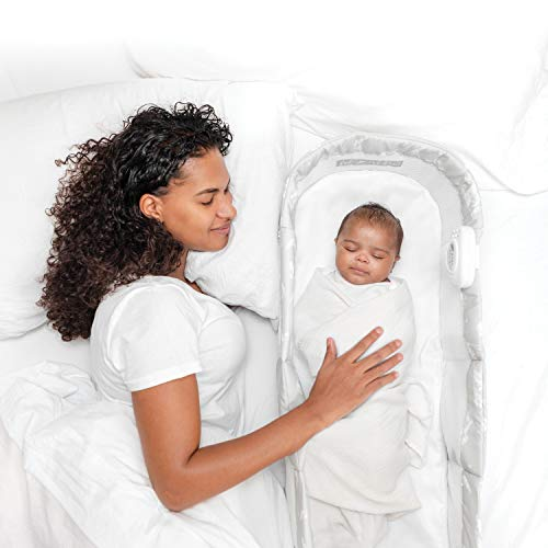 Baby Delight Snuggle Nest Harmony Portable Infant Sleeper, Silver Clouds, Unique Patented Design, Baby Bed - New!!