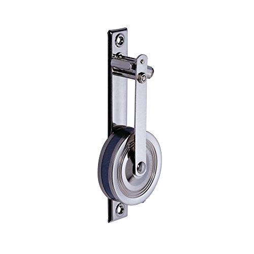 JAROLIFT Aufschraub Gurtwickler standard mit 5,5m Gurtaufnahme, hochglanz-vernickelt (121100)