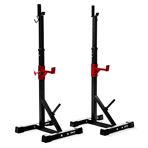 Viavito ST1000 Adjustable Squat Stands with Barbell Spotter Catchers