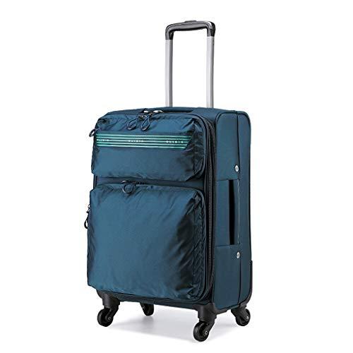 Trolley voor winkels, met hoge capaciteit, materiaal van nylon, draaibare bagage, 50,8 cm, 61 cm, 71 cm, stam
