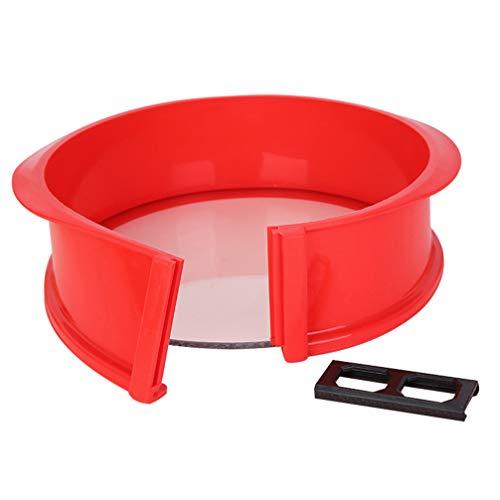 Hemoton Silikon Springform Pfanne Glasboden Käsekuchen Pfannen Runde Kuchenform Backform Auslaufsicher für Kochutensilien 22. 5X22. 5X8. 5 cm (Zufällige Farbe)