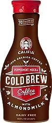 Califia Farms - Peppermint Mocha Cold Brew Coffee with Almond Milk, 48 Oz, Non Dairy, Plant Based, V