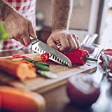 SHAN ZU Damast Santokumesser Kochmesser 67 Schichten Damastmesser Messer mit G10 Griff - PRO Series - 5