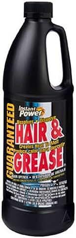 1-Liter Instant Power 1969 Hair and Grease Drain Opener Jug