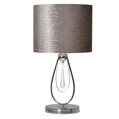 JYDQM Lámpara de Mesa, lámpara de Oro, Metal Moderno lámparas de Escritorio con la Cortina de la Tela for el Dormitorio Dormitorio de la Universidad Estantería de Noche Nightstand aparadores