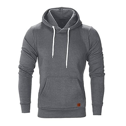 Herren Kapuzenpullover Kapuzenjacke Hoodie Slim Fit Moden Sweatshirt Langarm Pullover-Shirt mit Kapuze Sportjacke Outdoorjacke
